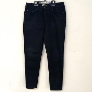 Naked and famous black denim jeans
